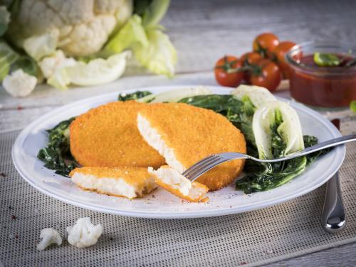 Blumenkohl-Käse-Knuspermedaillon, vorfrittiert, ca. 75 g