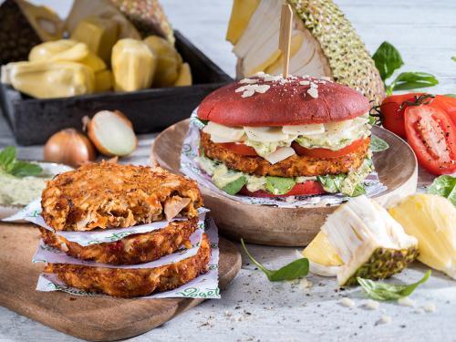 """Jackfruit-Burger """"Mediterran"""", ca. 120 g"""